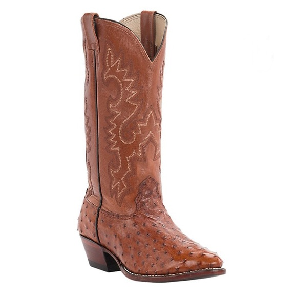 Like New Cavenders Mens Exotic Ostrich